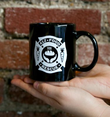Coffee mug with 412 Food Rescue logo