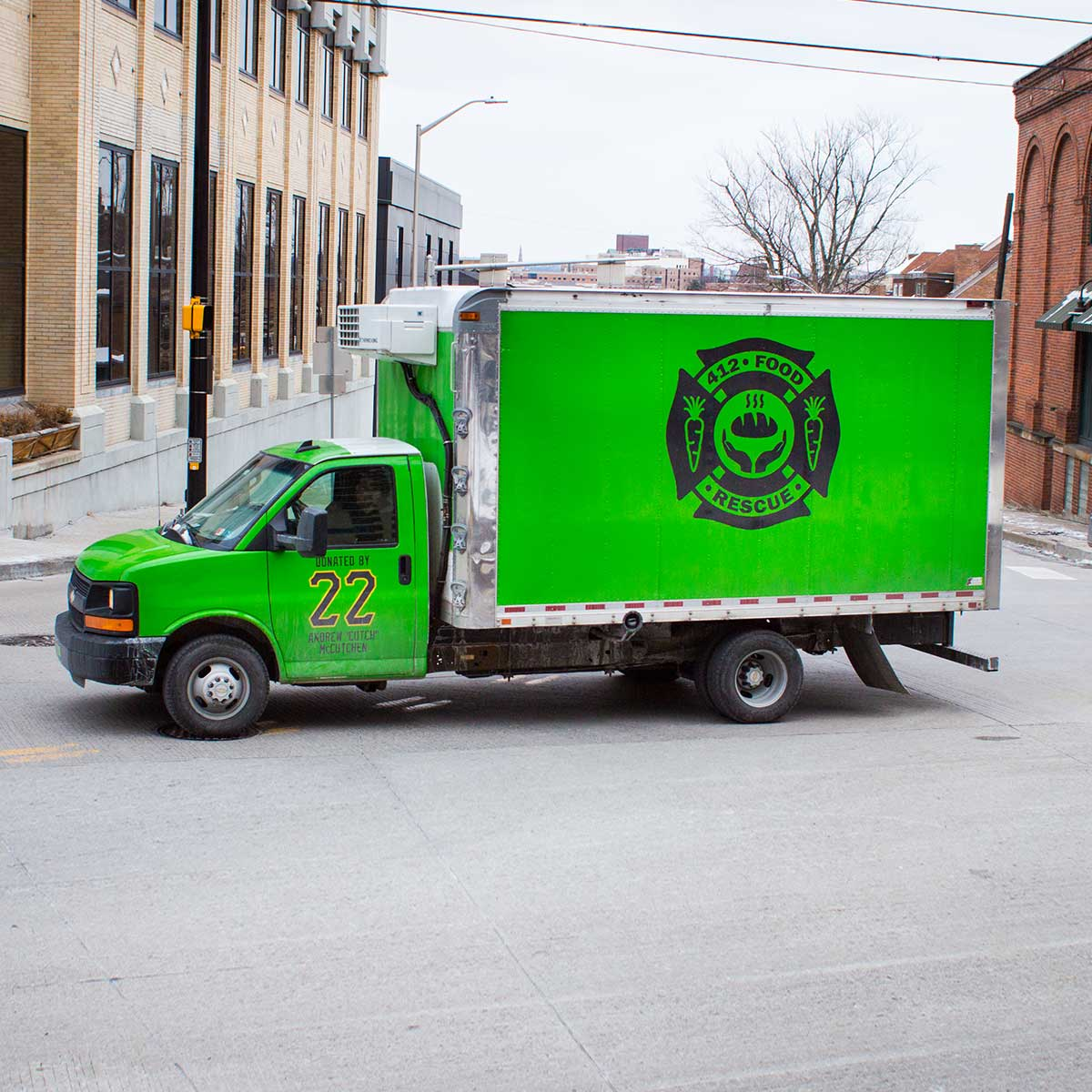 412 Food Rescue truck